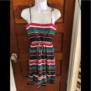 QS by Oliver Spaghetti Stripes Strings Dress